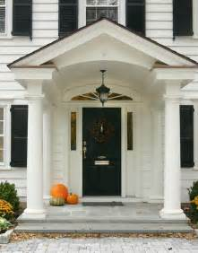 Portico On Colonial House Front Porch