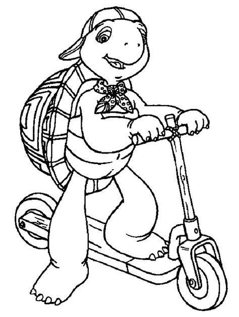franklin the turtle coloring pages coloring home