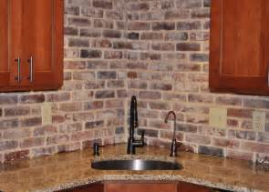 Brick Tile Kitchen Backsplash Photos Of Vintage Brick Veneer