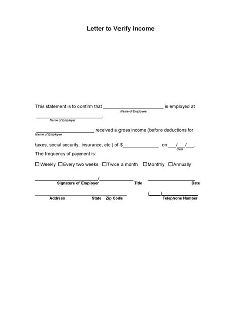 best ideas of sample income verification letter from employer for