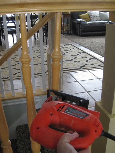 How To Remove Stair Banister by Remodelaholic Stair Banister Renovation Using Existing