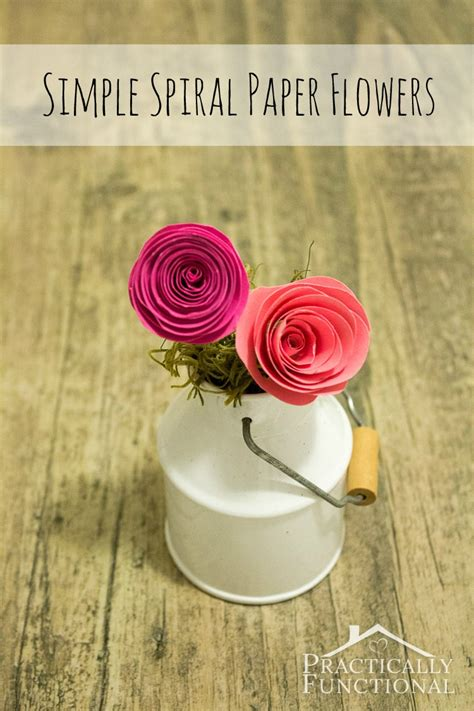 paper spiral flower tutorial simple spiral paper flowers