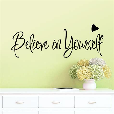 Livaza Wall Decor Be Yourself aliexpress buy believe in yourself home decor