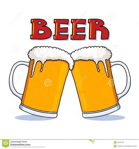 cartoon beer beer mugs illustration stock illustration illustration of