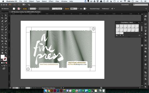Designing Stationery In Adobe Illustrator Using Templates A Fine Press How To Use Illustrator Templates
