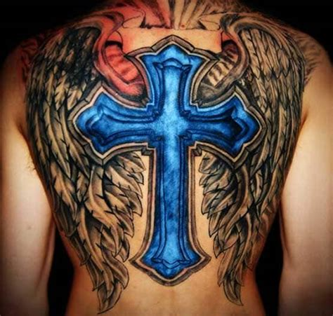 cross with wings tattoo meaning cross tattoos for guys ideas and designs for