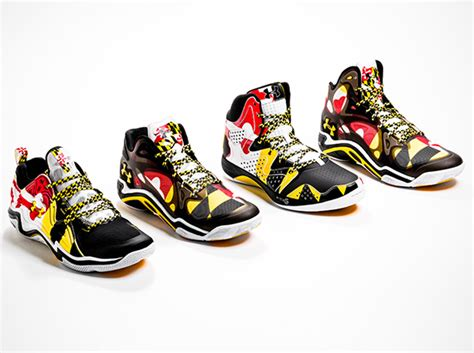 Converse Low Umd armour basketball quot maryland pride quot collection sneakernews