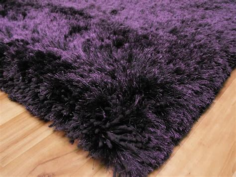 Plush Purple Shaggy Rug Plush Purple Shaggy Rug 163 117 Purple Rug