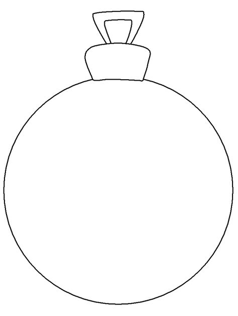 printable ornament christmas coloring pages