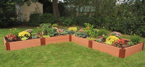 l shaped raised garden bed 4x16 raised garden bed l shaped composite raised garden bed 12 x 12 eartheasy com