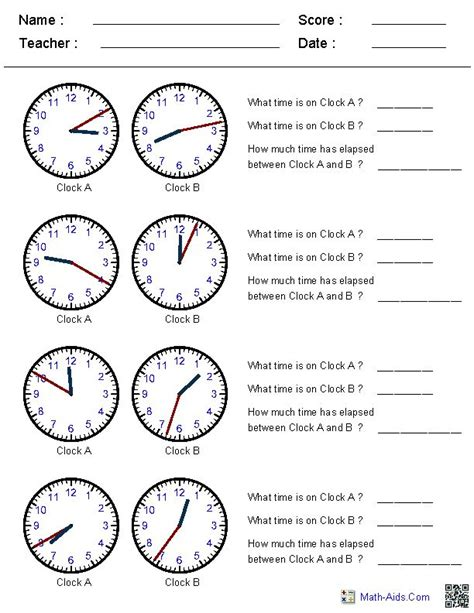 printable telling time sheets free truly free printable math worksheets for all concept areas