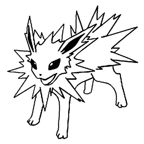 pokemon coloring pages jolteon coloring pages pokemon jolteon drawings pokemon