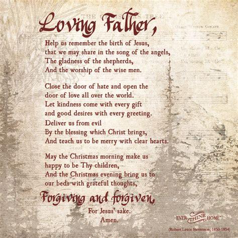 closing prayer for christmas a prayer thine home