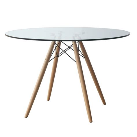Clear Dining Tables Woodleg 42 Quot Dining Table Clear Modern In Designs
