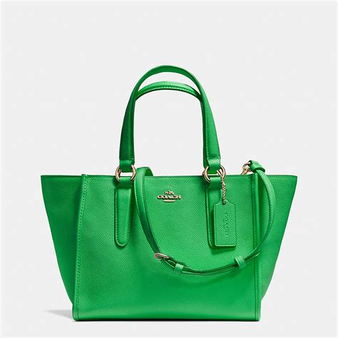Tas Coach Crosby Mini Green coach designer handbags crosby mini carryall in
