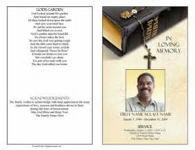 funeral program template bible memories