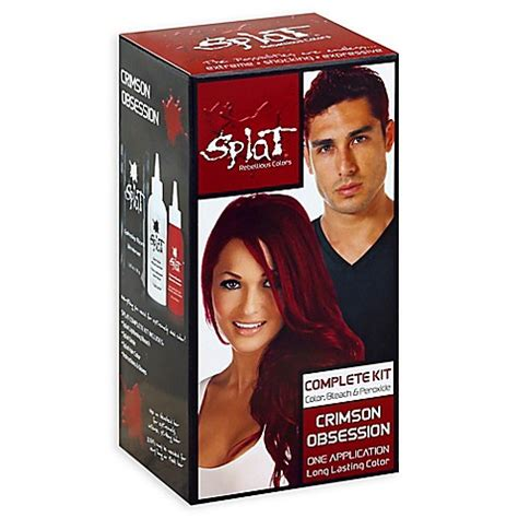 splat crimson obsession stores splat 174 rebellious colors complete hair color kit in