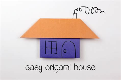House Origami - easy origami house tutorial