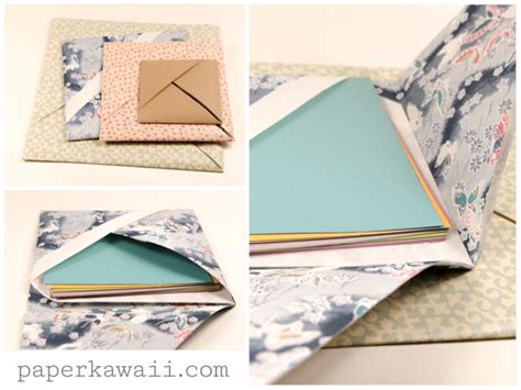 How To Make An Origami Pocket - origami paper storage pocket paper kawaii
