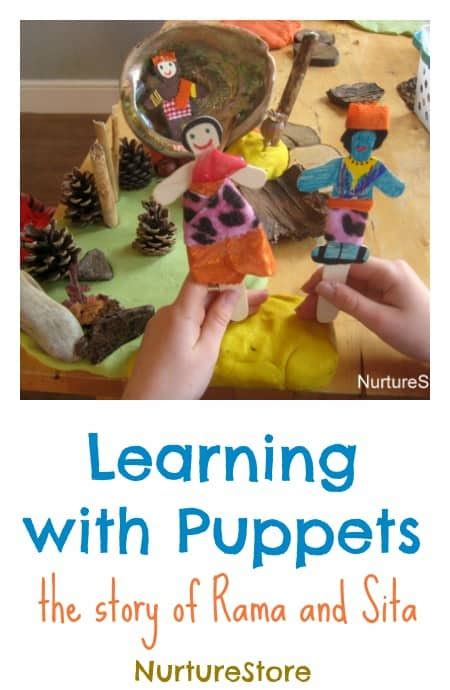 rama and sita puppets diwali activity nurturestore