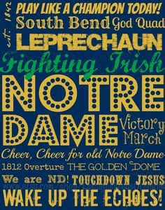 Notre Dame Mba Clothing by Notre Dame Stencil Notre Dame Logo Tshirt Makers