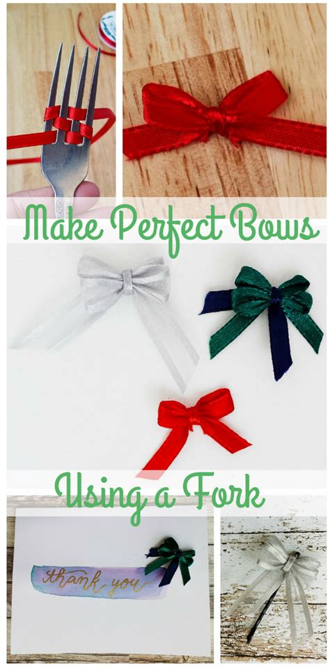how to make the perfect christmas bow how to make bows using a fork