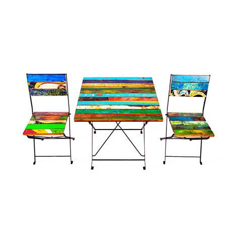 Teak Bistro Table And Chairs Teak For Two Bistro Set Ecochic Lifestyles Reclaimed Furniture