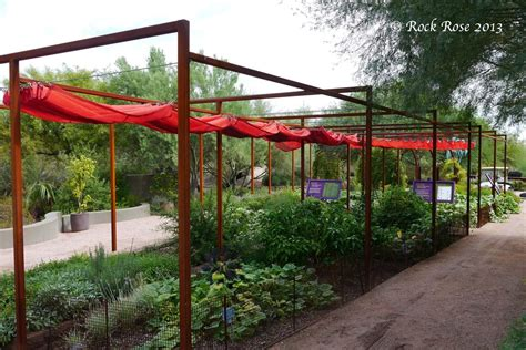 Vegetable Garden Shade Structures Rock It S In The Desert Botanical Garden
