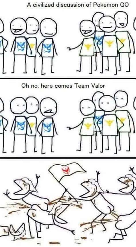 Team Valor Memes - pok 233 mon go blau rot oder gelb welches team ist das beste