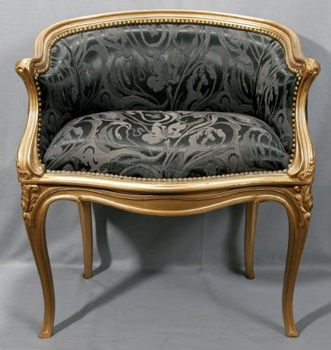 silk sofa music silk upholstery gilt framed vanity chair 1900c please
