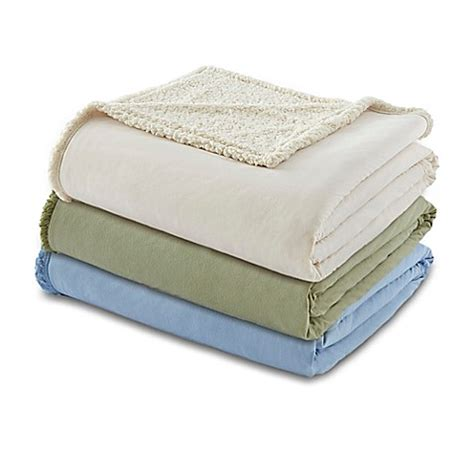 micro flannel 174 to sherpa blanket bed bath beyond