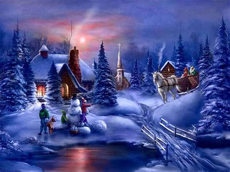 images of christmas scenes digital wallpapers classic outdoor christmas scenes