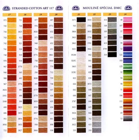 dmc floss card template dmc stranded cotton colour chart shade card stitchtastic