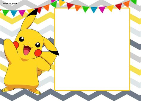 pikachu birthday card template pikachu images free impremedia net
