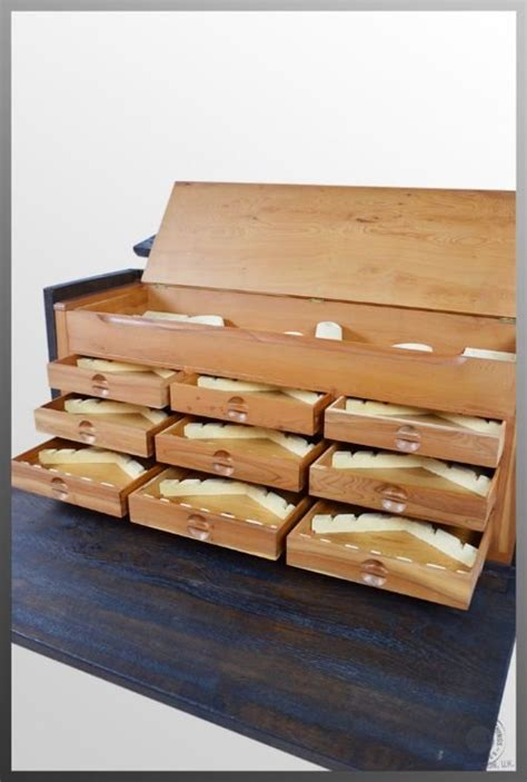 antique set of specimen drawers collectors chest cutlery