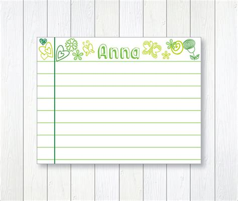 index card design template index card template 6 free printable word pdf psd