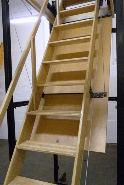 Attic Stairs With Handrails loft centre caernarvon disappearing stairway manufactured from ash the one stairway