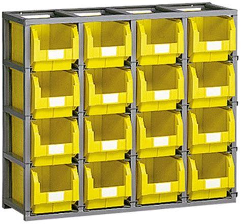 cassette bocca di lupo scaffali per contenitori plastica e cassette metallo misura