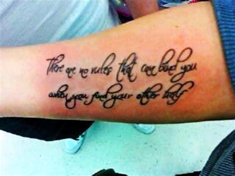 female quote tattoos inner arm quotes quotesgram