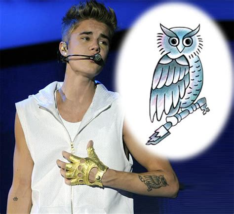 justin bieber owl tattoo justin bieber owl tattooforaweek temporary tattoos