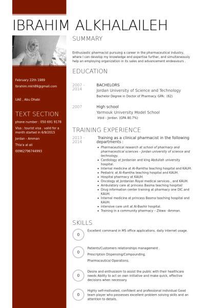 pharmacist resume sles visualcv resume sles database