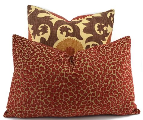 And Gold Pillows by Throw Pillow Cover Gold Chenille Animal Print Pillow