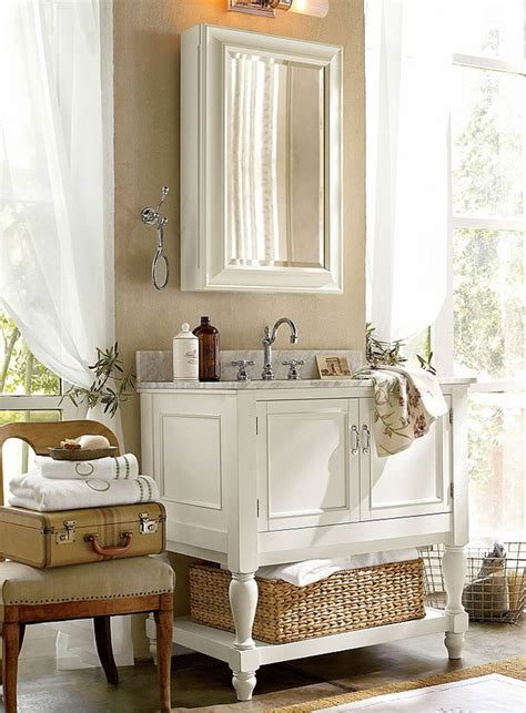 How To Furnish A Small Bathroom Pottery Barn Pottery Barn Bathroom Mirror
