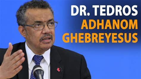 tedros adhanom ghebreyesus dr tedros adhanom ghebreyesus on gender equality at the