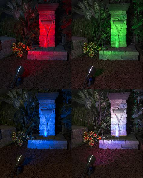 Colored Landscape Lights 3 Watt Color Changing Rgb Led Mr16 Bulb Remote Sold Separately Landscape Replacement Led
