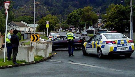 car smashes   hutt couples concrete block