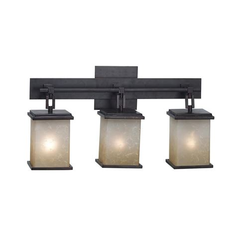 oil rubbed bronze bathroom lighting fixtures shop kenroy home plateau 3 light 21 in oil rubbed bronze