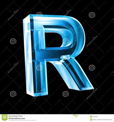 imagenes en 3d en vidrio letra r en el vidrio azul 3d fotos de archivo libres de