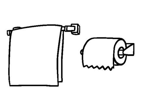 kleurplaat toilet towel and toilet paper coloring page coloringcrew
