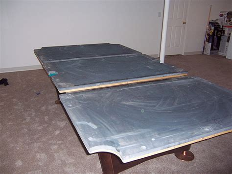 brunswick pool table frame with slate pieces